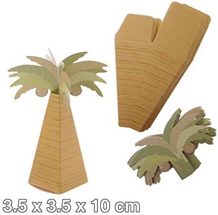 (ヨーテイ) Youtei 【4個セット】ヤシの木 ミニチュア ペーパークラフト (ヤシの木, 3.5x3.5x10cm)