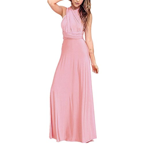 Pink Maxi Multi Wrap Dress Party Wedding Long Evening Transformer Convertible Dresses Dress Bridesmaid Women Infinity Way Formal Yq8BaUxnIw