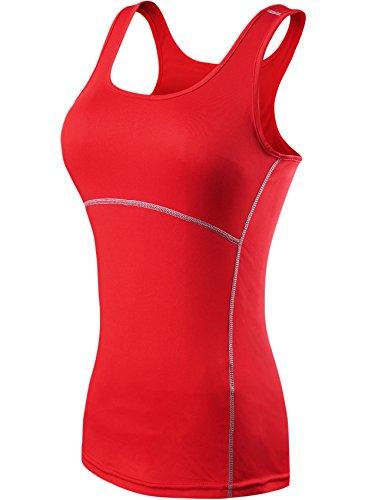 Neleus Mujeres Camisetas Deportivas Sin Mangas de 3 Unidades 11# 3 Unidades: Azul, Rojo, Rojo claro