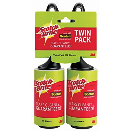 Scotch-Brite Lint Roller Twin Pack, 150 Sheets Total