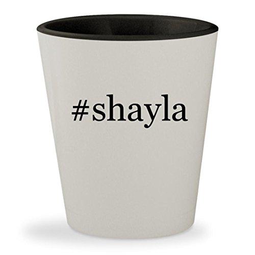 #shayla - Hashtag White Outer & Black Inner Ceramic 1.5oz Shot - Shayla Makeup