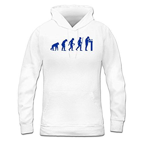 Sudadera con capucha de mujer Biology Evolution by Shirtcity Blanco
