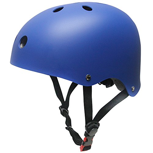 KUYOU Helmet ABS Hard Rubber with Adjustment for Skateboard/Ski/Skating/Roller Snowboard Helmet Protective Gear Suitable Kids and Youth,(M-Blue)