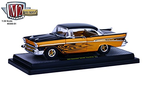 - 1957 Chevrolet Bel Air Hard Top Molten Gold and Gloss Black Metallic