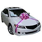 Car Bow: Hot Pink, Light Pink, White