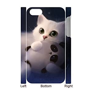 ALICASE Diy 3D Protection Hard Case Lovely Cat For Iphone 5C [Pattern-1]