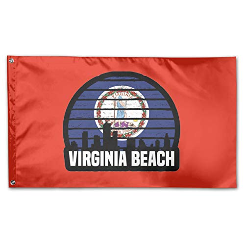 Virginia Beach VA Group City Trip Silhouette Flag 3x5 Ft Flag - Vivid Color - Tea Party Flags for $<!--$16.25-->