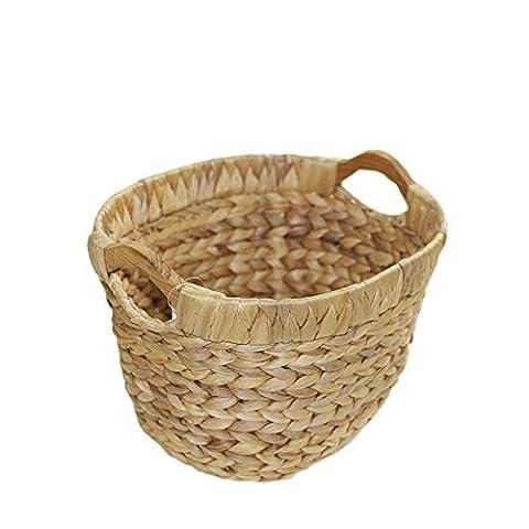 YOLOGOSUN Straw Baskets Are Naturally Hand-woven With Rugged Baskets (oval) - Hand Woven Oval Basket