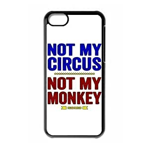 TYHde Funny Quotes Not My Circus Not My Monkeys pattern for black plastic ipod Touch4 case ending