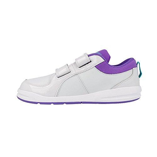 Nike Schuhe Kinder Mädchen Pico 4 (psv) Pure platinum/trb grn-prpl vnm Grigio