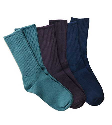 Maggie's Organic Cotton Crew Sock Tri-pack (10-13, ()