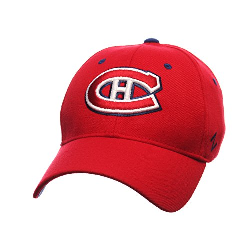 Montreal Canadians Hockey - Zephyr NHL Montreal Canadians Men's Breakaway Cap, Small, Red