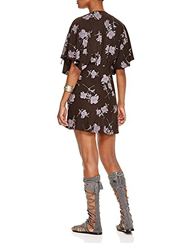 c0e12bb0c5b Free People Women s Melanie Floral Printed Short Sleeve V-Neck Mini Dress Night  Combo 0 at Amazon Women s Clothing store