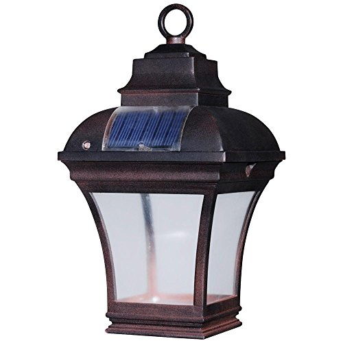 Newport Coastal Altina Outdoor Solar LED Hanging Lantern