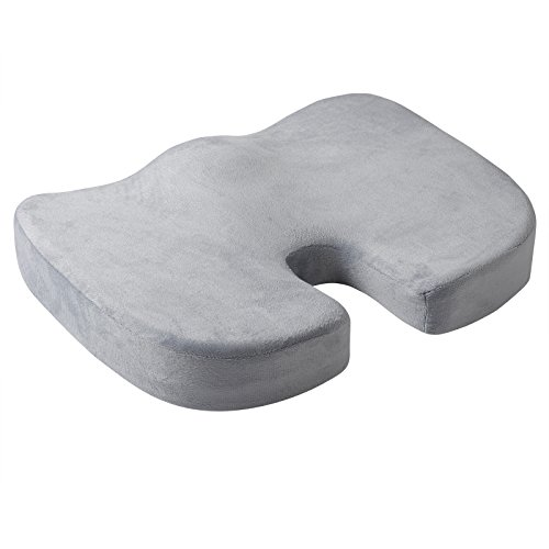 Woltu Coccyx Orthopedic Memory Foam Office Chair and Wheelchair Seat Cushion Relief Back Pain and (Seat Minimal Contour Ergonomic Chair)