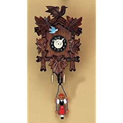 Pinnacle Peak Trading Company Swinging Girl Doll Quartz Movement Hand Painted German Wood Clock with Sound