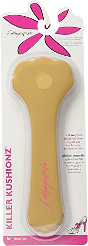 Foot Petals Women's Killer Kushionz 3 Pack Buttercup Shoe Insole,Buttercup,One Size M US