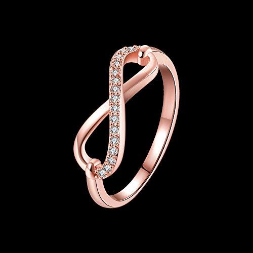 f2aa80fcb2a6 El servicio durable Anillo con símbolo de infinito para mujer marca Fjyouria