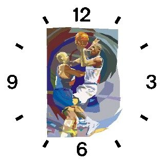 High Action Basketball Art No.2 Basketball Theme - WATCHBUDDY DELUXE TWO-TONE THEME WATCH - Arabic Numbers - Brown Leather Strap-Women's Size-Small
