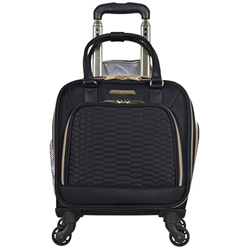 Aimee Kestenberg Women's Florence 16 Polyester Twill 4-Wheel Underseater Carry-on Luggage, Black