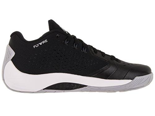 Mtllc anthrct Negro Nike De Slvr Homme Noir Basket Rising Jordan ball low white Espadrilles Hi black SwZ7Svq