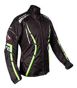 Roleff Racewear Zelina Chaqueta de Motocicleta, Amarillo Neón, L