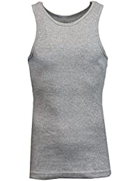 Single and 3-Pack Mens Heavy-Weight Ribbed Tank Tops