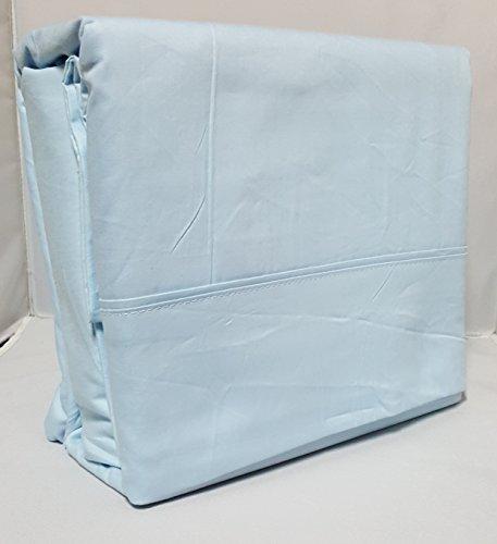 Organic Cotton Sheet Set - 600 Thread Count - 100% Cotton 4pc Bed Sheet Set - (Queen, Baby Blue)
