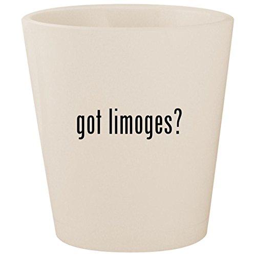 got limoges? - White Ceramic 1.5oz Shot Glass -