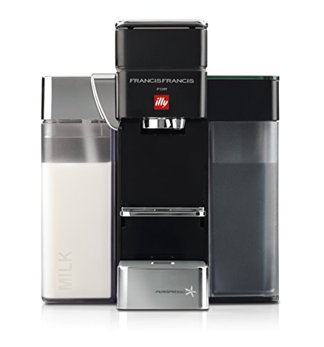 Francis Francis for Illy Y5 Milk Espresso and Coffee Machine Black by Francis Francis for illy