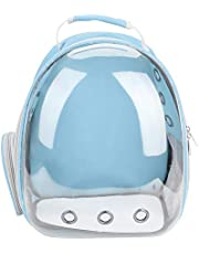 Pet Carrying Bag Cat Portable Backpack Capsule Space Transparent Breathable Cage(Blue)