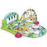 Tapete de Atividades Musical Piano para Bebês - Verde - Dican
