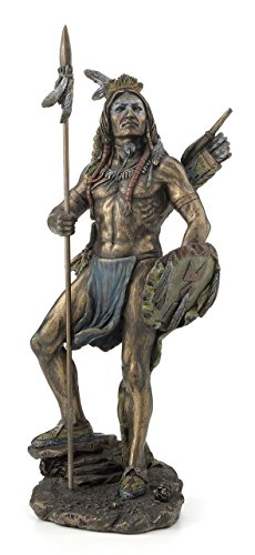 Native American Indian Sioux Warrior Statue Sculpture Figurine