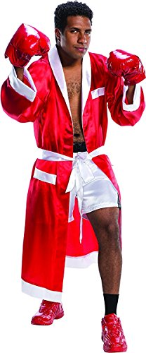 Charades Men's The Boxer Costume, As Shown, Medium/Large