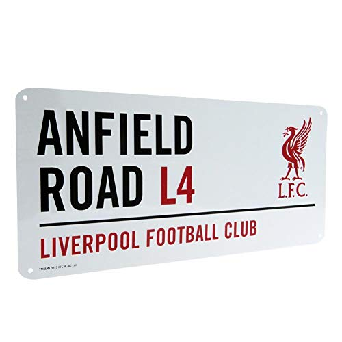 Liverpool FC Official Street Sign (One Size) (White)