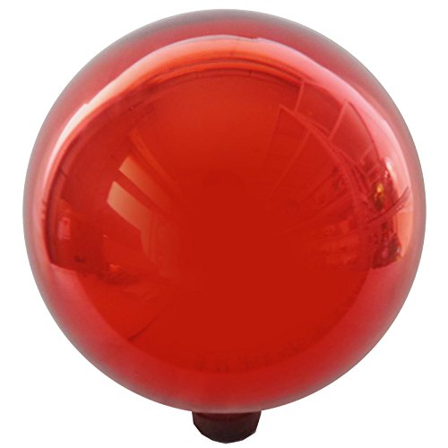 - Gardener's Select A14BFG08 Glass Gazing Globe, Metallic Red, 10