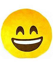 إيموجي وسادة دائرية مقاس 40 سم - اصفر