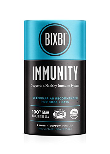 BIXBI Organic Pet Superfood Daily Dog & Cat Supplement, Immunity, 60 Grams