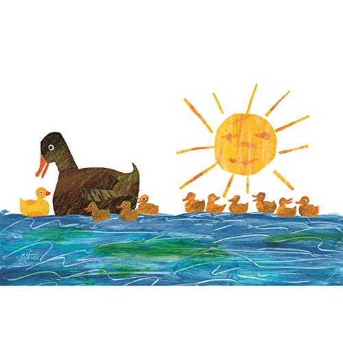 Marmont Hill Eric Carle's 10 Little Rubber Ducks Duckings-1 Canvas Wall Art, 60 by 40-Inch ()