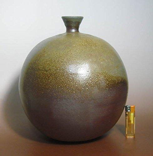 備前焼 胡麻 桟ぎり 花器 花瓶 自然釉 窯変 浩祥作 大壷 B01HR3VQ1O