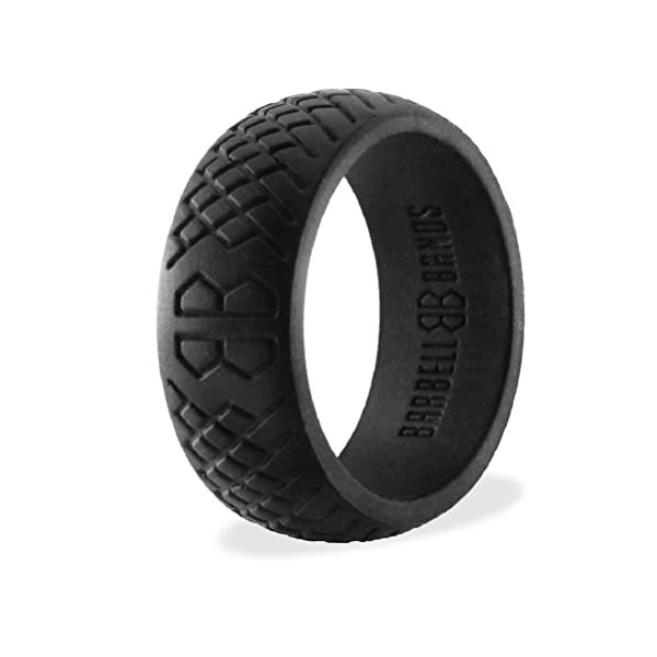 barbell bands silicone ring men | premium rubber wedding band | perfect tactical jobs, weightlifting, active lifestyle - 41V8JZjiMLL - Barbell Bands Silicone Ring for Men | Premium Rubber Wedding Band | Perfect for Tactical Jobs, Weightlifting, Active Lifestyle