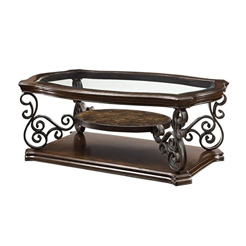 Coaster Home Furnishings Traditional Coffee Table, Dark Brown (Traditional Table Cocktail)