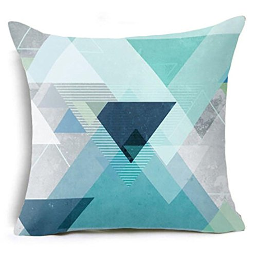 Napoo Geometric Marble Texture Super Soft Throw Pillow Case Cushion Cover 45cmX45cm ()