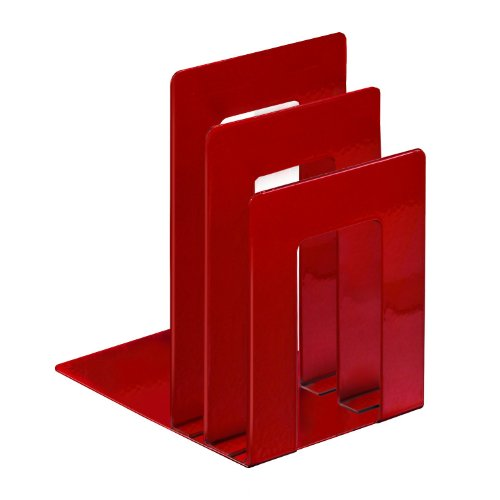 STEELMASTER Deluxe Bookend Sorter, 8.06 x 7 x 5 Inches, Red (241873S07) by STEELMASTER