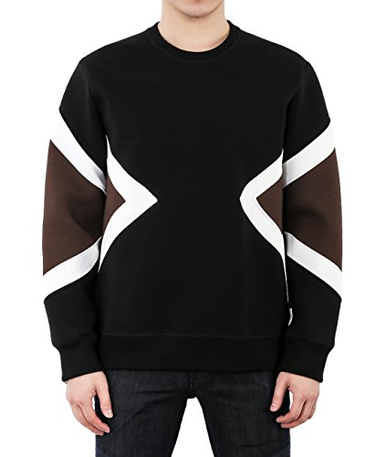wiberlux-neil-barrett-mens-geometric-panel-neoprene-sweatshirt-s-black