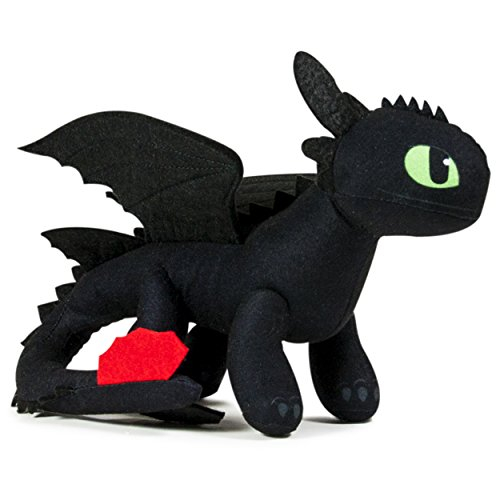 "DreamWorks Dragons Action Dragon 8"" Plush, Toothless"