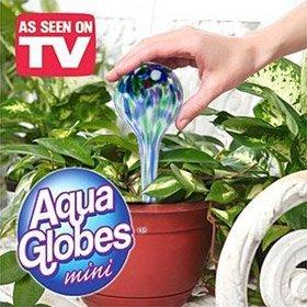 - As Seen On TV Aqua Globes Mini - Set of 3 - Waters Plants Perfectly