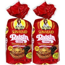 Sun Maid Raisin Bread Cinnamon Swirl 2 Loaves Amazon Com Grocery Gourmet Food