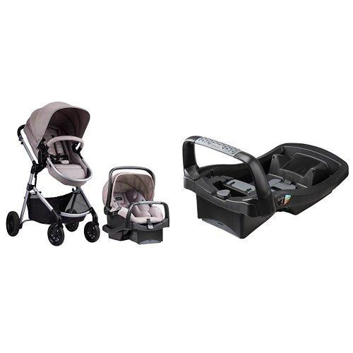 (Evenflo Pivot Modular Travel System with SafeZone Base for SafeMax Infant Car Seat)