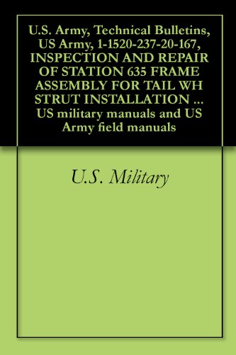 U.S. Army, Technical Bulletins, US Army, 1-1520-237-20-167, INSPECTION AND REPAIR OF STATION 635 FRAME ASSEMBLY FOR TAIL WH STRUT INSTALLATION CLEARANCE, ... military manuals and US Army field (15 Tail Strut)
